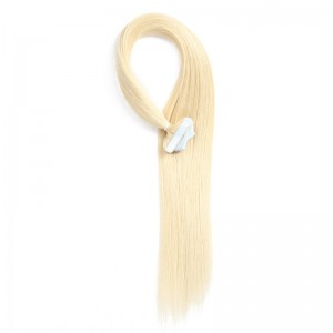 UNice 20pcs 50g Straight Tape In Hair Extensions #613 Lightest Blonde 100% Virgin Hair