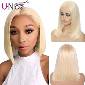 UNice Hair Bettyou Series Blonde Short Layered Human Hair Bobo Wig Without Bangs