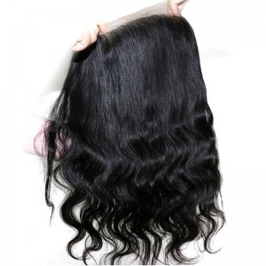 UNice Hair Kysiss Series Body Wave Virgin Hair 4 Bundles With 360 Lace Frontal Closure