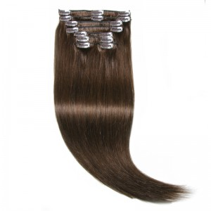 UNice #4 Medium Brown Hair Extensions Clip In Hair 8Pcs/set