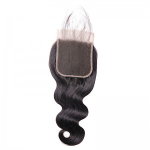 UNice Body Wave Hair 5x5 Closure Free Part With Baby Hair Medium Brown Swiss Lace