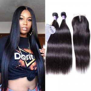 8A Kysiss Series Malaysian Virgin Hair 4 Bundles With Closure