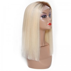UNice Hair Bettyou Wig Series Blunt Cut Short Straight Human Hair Lace Front Wigs Blonde Hair