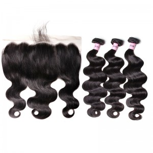 UNice Hair Icenu Series 3 Bundles Body Wave Hair With 13x6 Lace Frontal Hair Closure