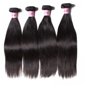 UNice Hair Icenu Series 4 Bundles Virgin Straight Hair With 360 Lace Frontal Closure