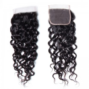 UNice 1PC Unprocessed 4x4 Water Wave Closure 100% Virgin Human Hair