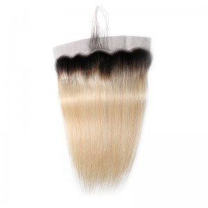UNice Virgin Hair Ombre Color 1B/613 13x4 Lace Frontal Closure Straight Human Hair