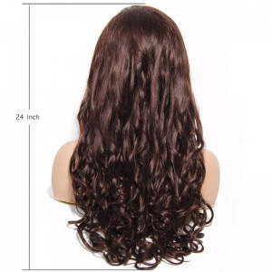 UNice Hair Bettyou Wig Series Natural Brown Long Human Hair Wavy Lace Front Women Wig