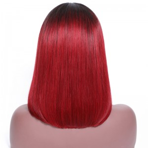 UNice Hair Bettyou Wig Series Ombre Black To Red Color Wig Lace Frontal Straight Hair Bob Wig