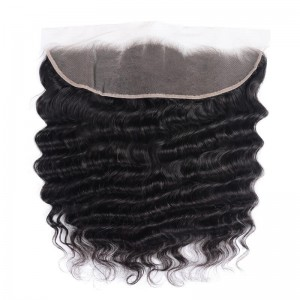 UNice Hair Loose Deep Wave Virgin Human Hair Lace Frontal Closure