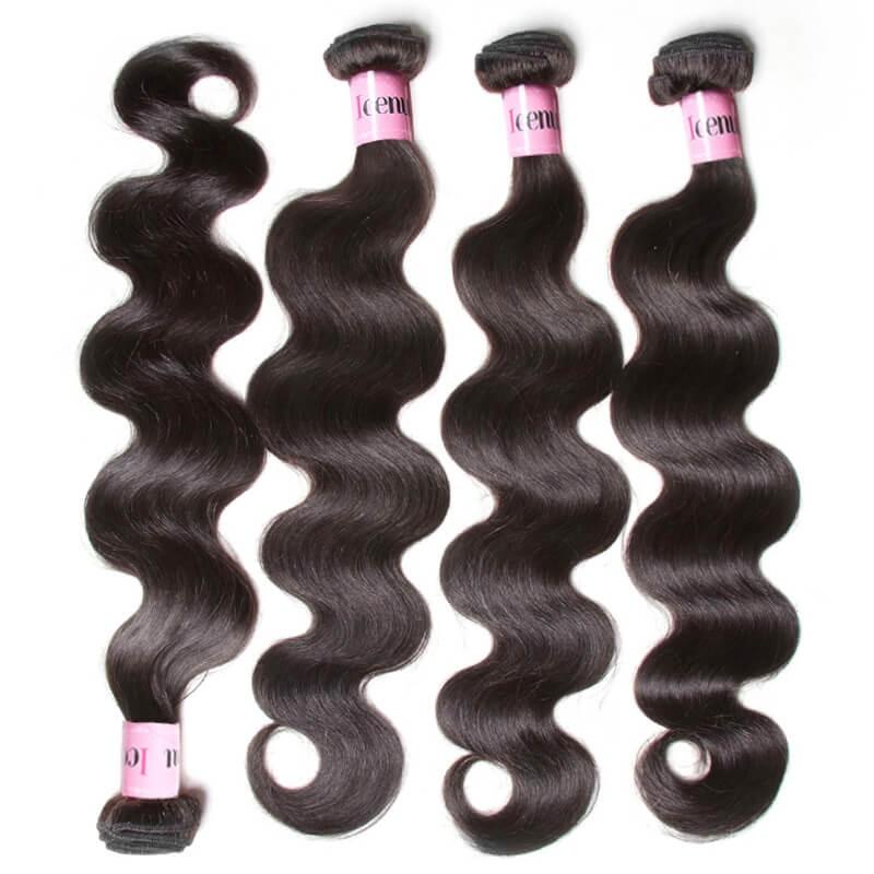 UNice Hair Icenu Series Hair 4Pcs/pack Peruvian Body Wave Virgin Human Hair