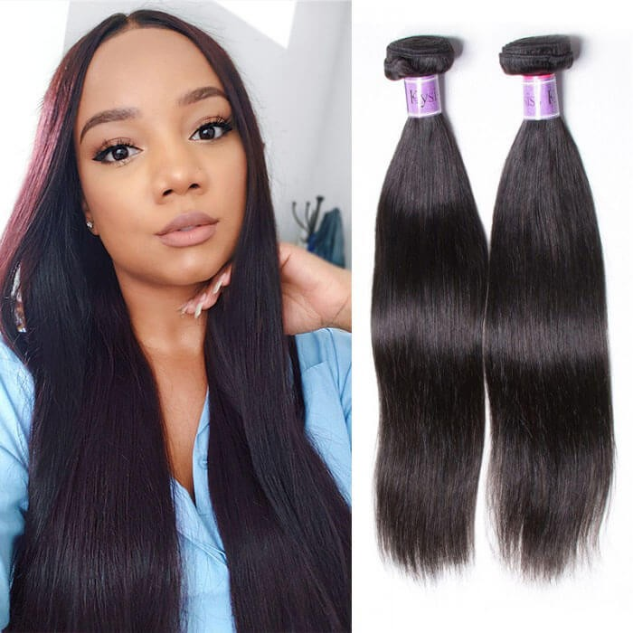 UNice Hair Kysiss Series 8A Brazilian Straight Hair 4 Bundles Virgin Human Hair Weave