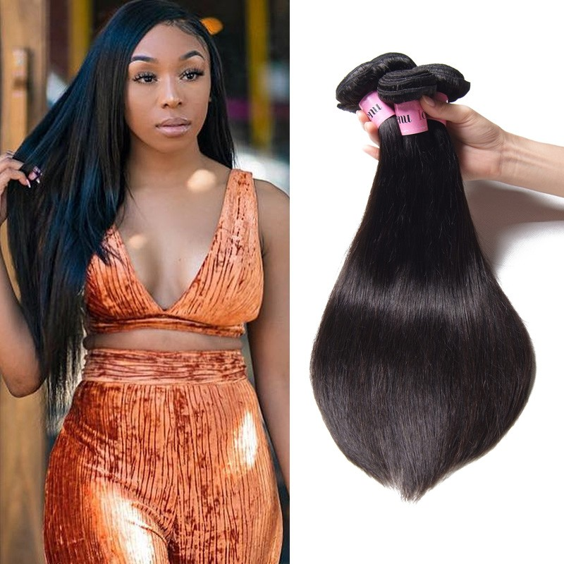 UNice Hair Icenu Series Brazilian Human Virgin Hair Straight 3 Bundles