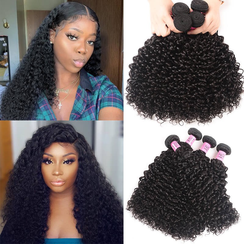 UNice Hair Icenu Series Brazilian Jerry Curly Virgin Hair 4pcs/pack