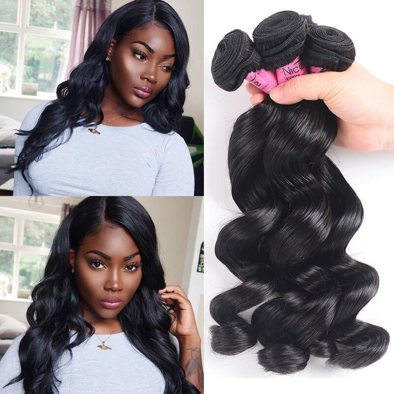 UNice Hair Icenu Series Brazilian Loose Wave Virgin Hair 3 Bundles