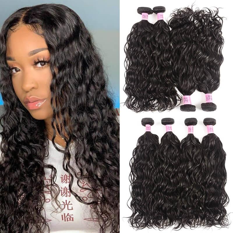 UNice Hair Icenu Series Hair Extensions Brazilian Natural Wave Human Hair 4Pcs/lot Natural Wave
