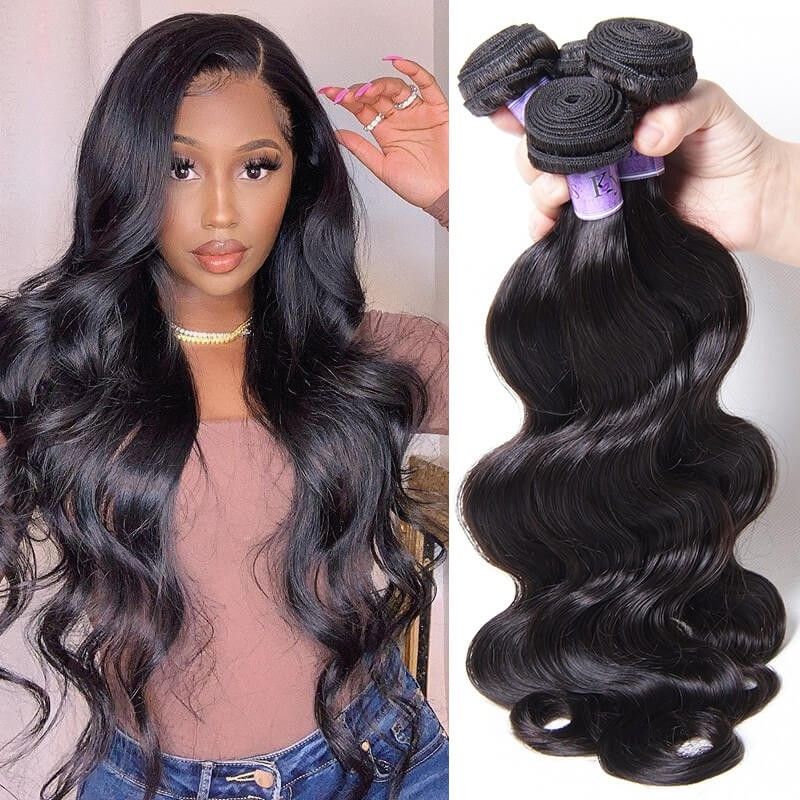 UNice Hair Kysiss Series Human Hair 4 Bundles Peruvian Body Wave Virgin Hair
