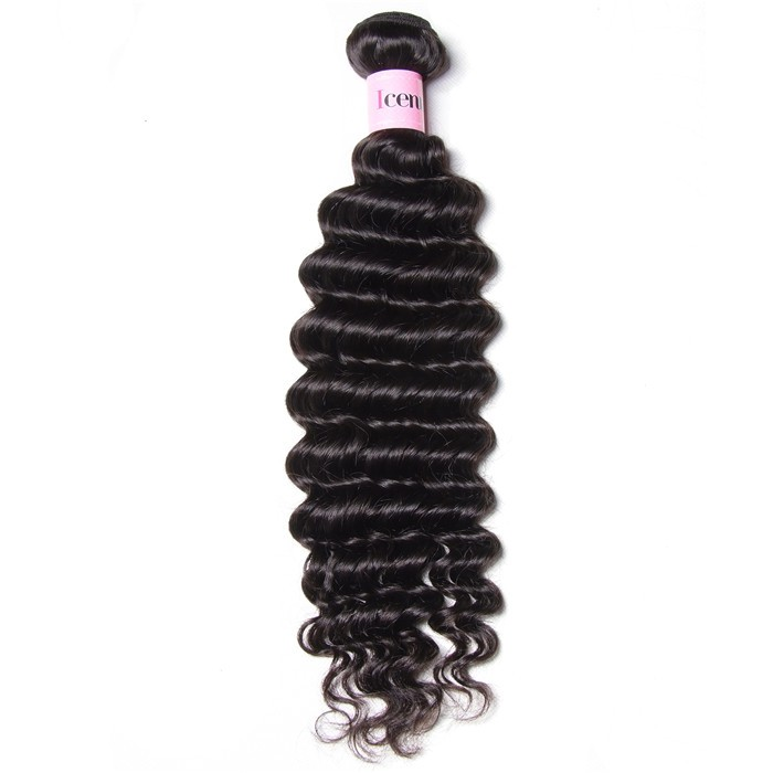 UNice Hair Icenu Series 1 Pieces Deep Wave Human Virgin Hair Weaving