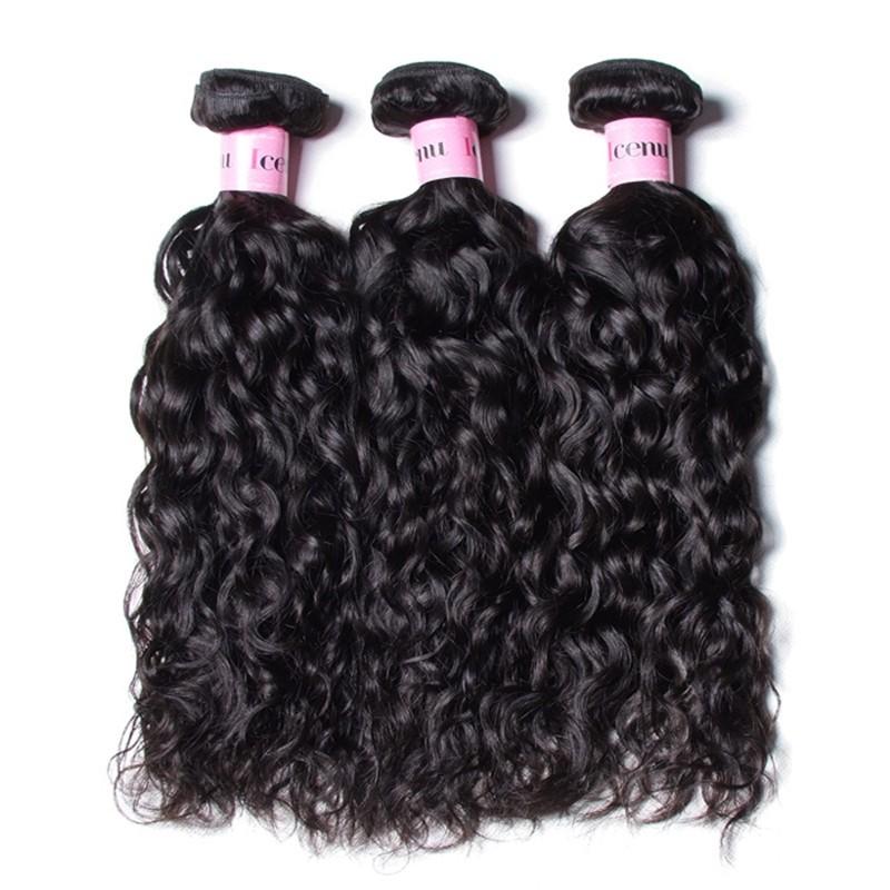 UNice 3 Bundles Water Wave Virgin Human Hair