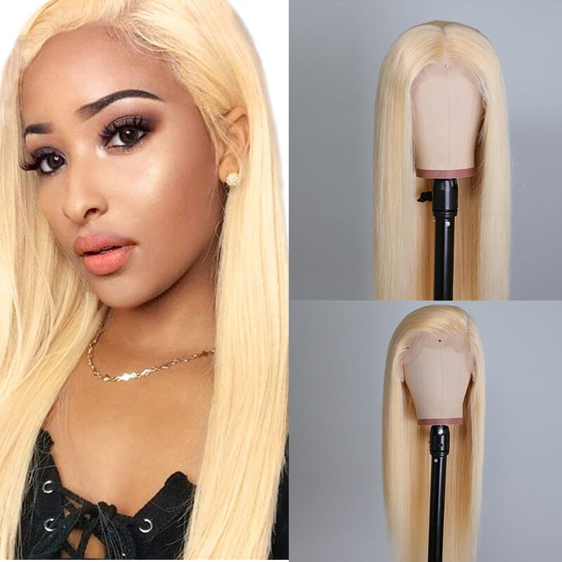 UNice Hair Full Lace Wigs 613 Straight Human Hair Wig
