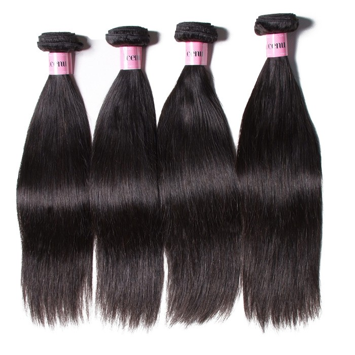 UNice Hair Icenu Series 4pcs/pack Indian Straight Human Hair Weaves