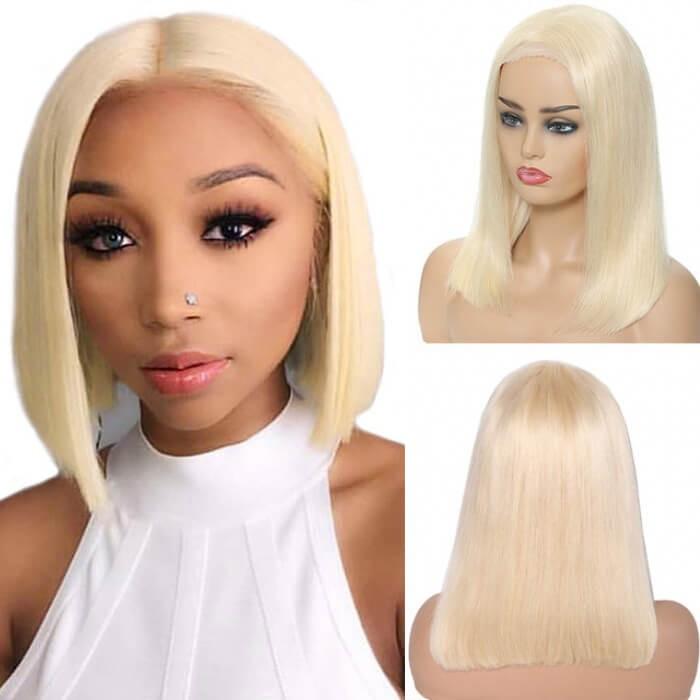 UNice Hair Bettyou Series Blonde Short Layered Human Hair Bobo Wig Without Bangs