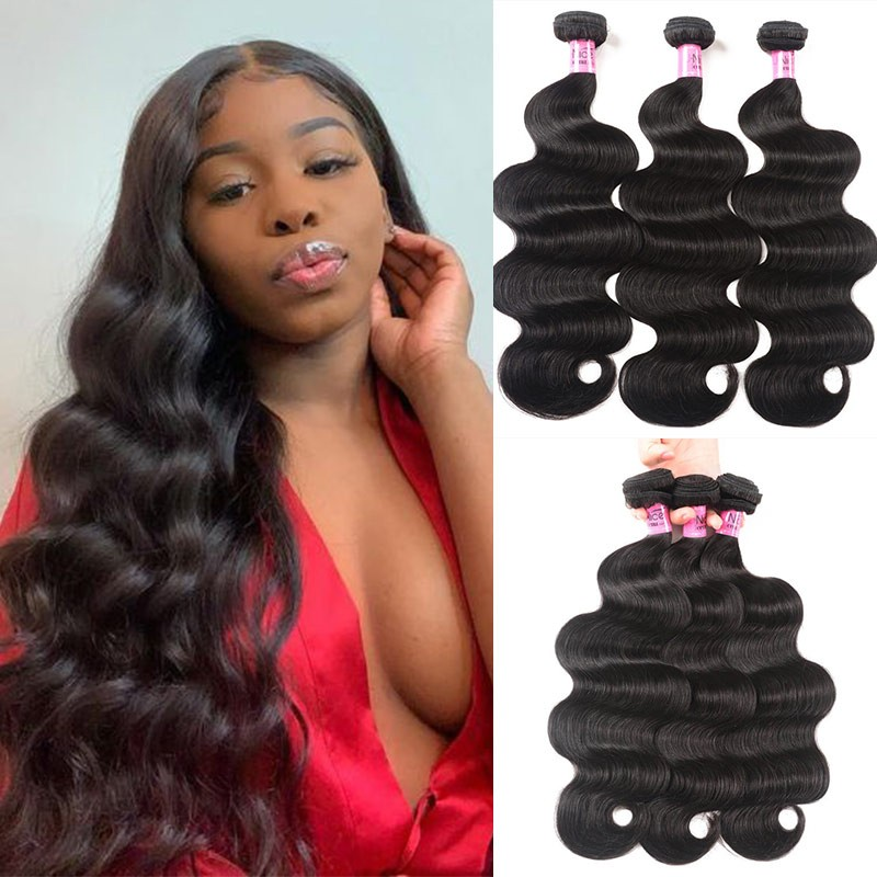 UNice Hair Icenu Series Indian Body Wave Human Hair Weft 3Pcs/pack