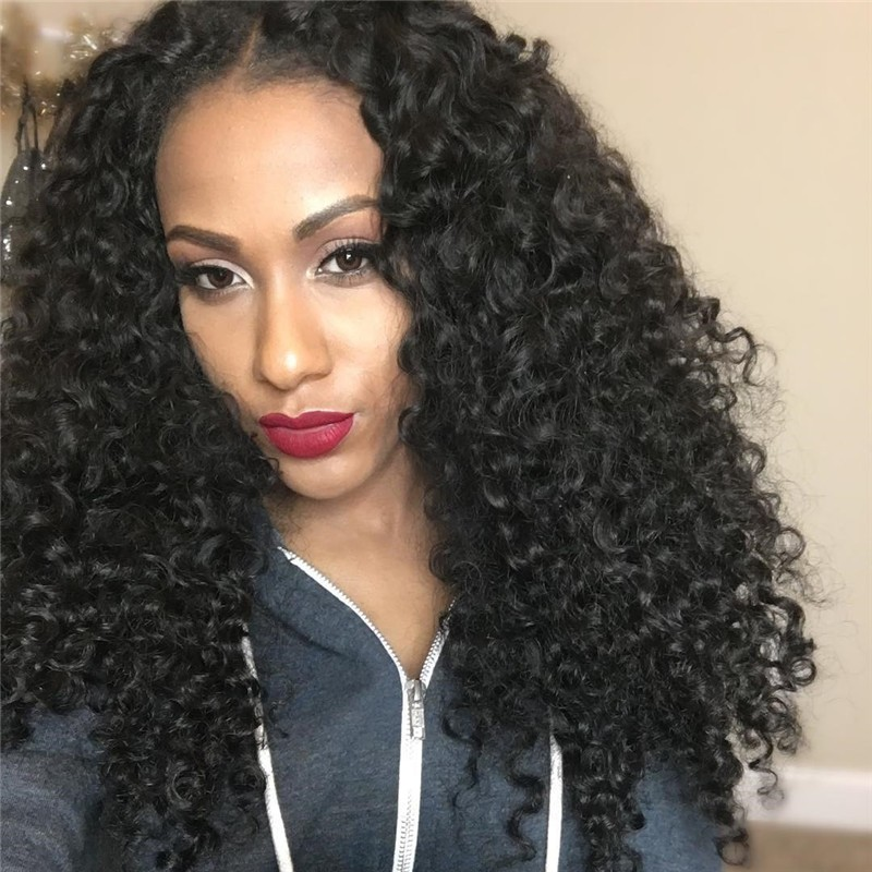 UNice-Kysiss Peruvian Jerry Curly Hair Cheap Human Hair 3 Bundles