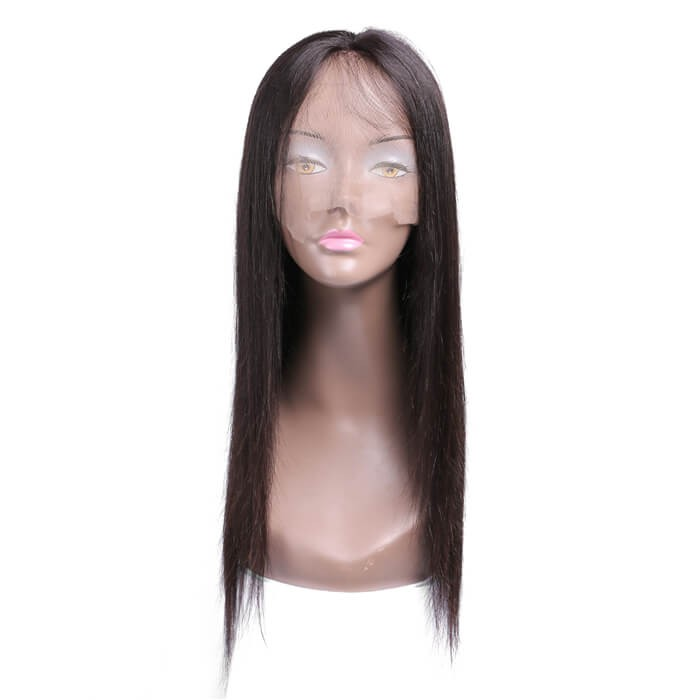 UNice New Design 100% Straight Human Hair Lace Front Wigs