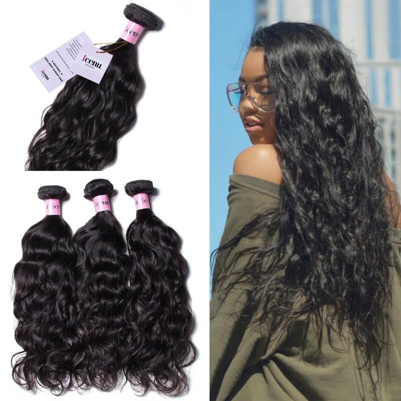 UNice Hair Icenu Series 3pcs/pack Brazilian Virgin Hair Natural Wave Human Hair Extensions