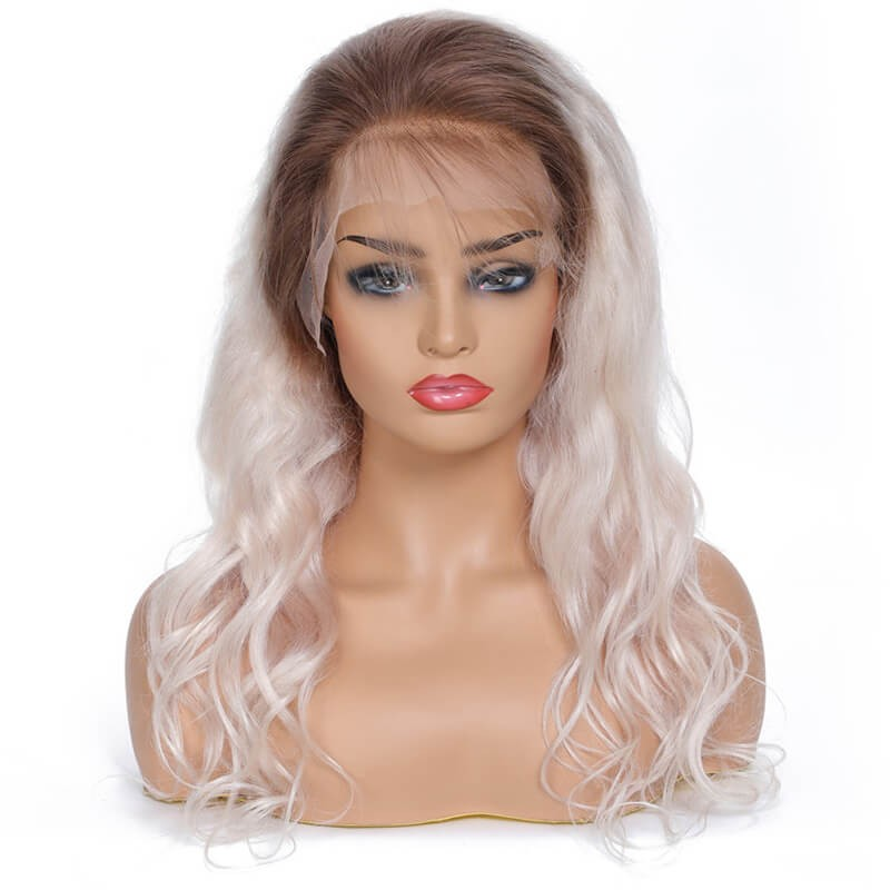 UNice Hair Bettyou Wig Series #60 Platinum Blonde Human Hair Wig Density 130% 4x13 Lace Frontal Wig