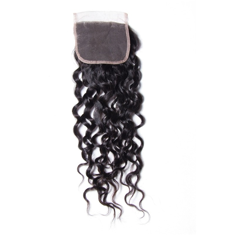100% Virgin Human Hair 1PC Unprocessed 4x4 Loose Wave Closure