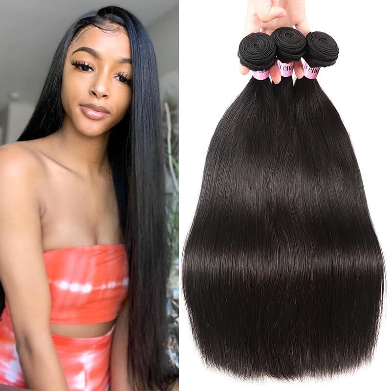 UNice Hair Icenu Series 3pcs/pack Peruvian Straight Human Virgin Hair