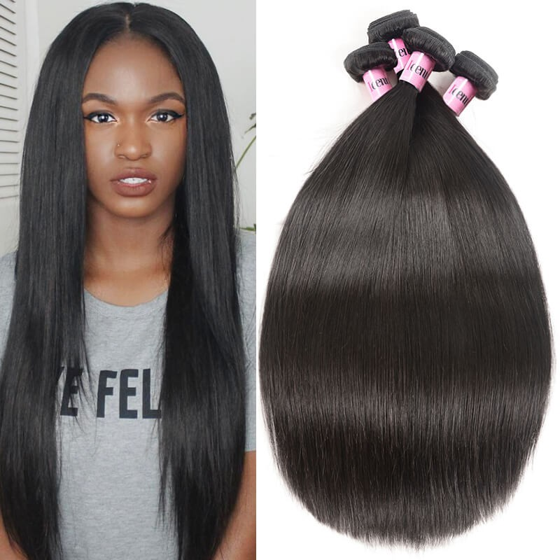 UNice Hair Icenu Series 4 Bundles Brazilian Virgin Straight Hair Weaves