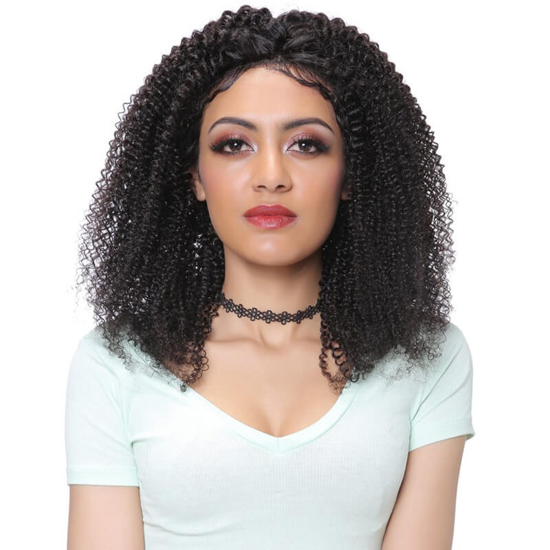 UNice Hair Bettyou Series Indian Kinky Curly Wig Human Hair Lace Front Wig For Black Women