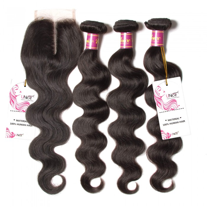 unice body wave with lace closure