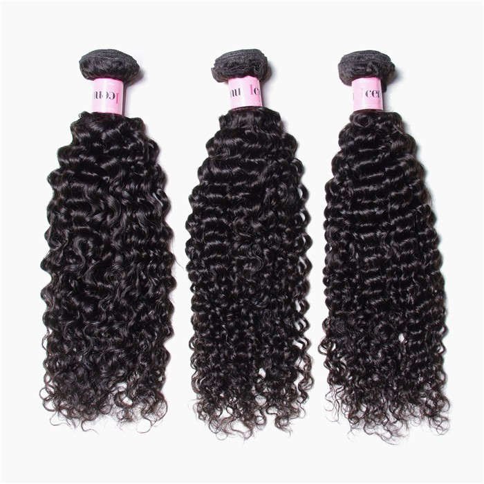 UNice 3 Bundles Brazilian Jerry Curly Hair Weave