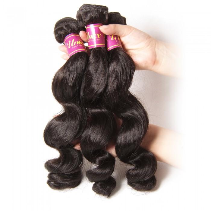 unice loose weave virgin hair