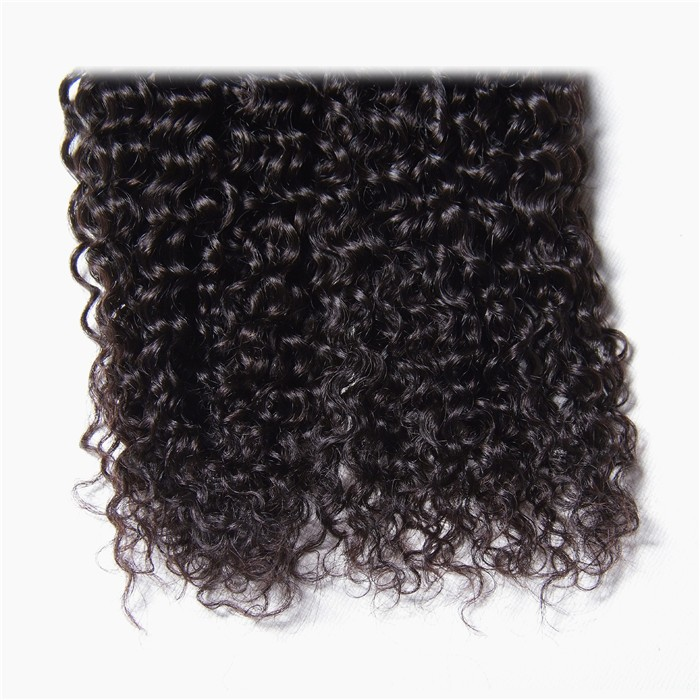 4Pcs Jerry Curly Hair With Frontal Hair Lace Closure