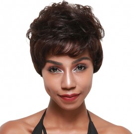 UNice Fashion Short Wavy Wigs Unprocessed Human Virgin Hair Wigs
