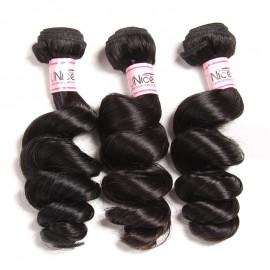 UNice 3pcs/Lot Loose Wave Hair Bundles Deals Remy Hair Extensions