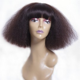 UNice Wigs With Neat Bangs