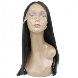 Hot Sale Natural Long Straight 100% Human Hair Full Lace Wig Lace Frontal Wig