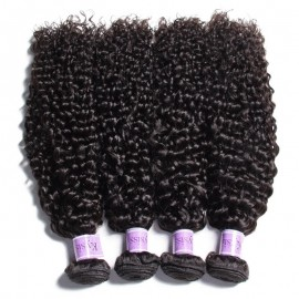 UNice-Kysiss 4Pcs/pack Peruvian Human Virgin Jerry Curly Hair