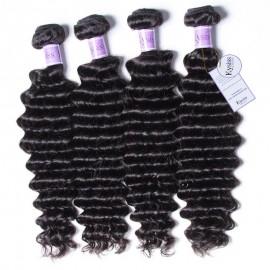 UNice-Kysiss Brazilian Deep Wave Hair Extensions Human Hair Bundles 4pcs/Lot