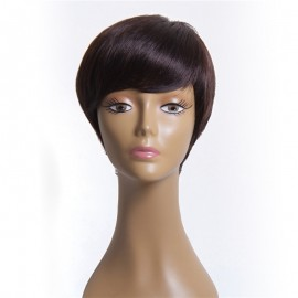 UNice Brazilian Virgin Human Hair Short Hair Wigs With Bangs
