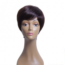 UNice Brazilian Human Hair Natural Color Short Wavy Wigs