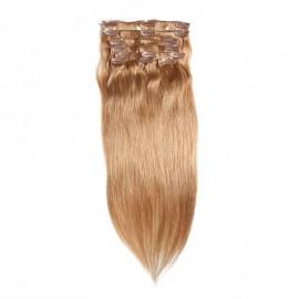 UNice  #60 Platium Blonde Clip In Hair Cheap Virgin Hair Extensions 8Pcs/set
