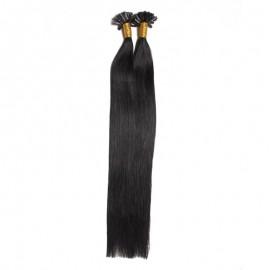 UNice 50g U Tip Hair Extensions Malaysian Human Virgin Hair 0.5 g/s