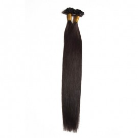 UNice 50g Keratin U Tip Brazilian Straight Virgin Human Hair 0.5 g/s